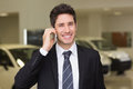 Smiling Businessman Calling With His Mobile Phone Royalty Free Stock Image - 49244286
