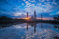 Relfection Of A Mosque And Clouds At Sunrise Royalty Free Stock Photo - 49245695