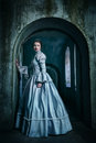 Woman In Victorian Dress Royalty Free Stock Photo - 49264385