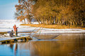 Winter Fishing Royalty Free Stock Photography - 49268987