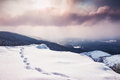 Fantastic Winter Landscape At Sunset Royalty Free Stock Photography - 49270317