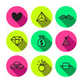 Rave, Punk And Glam Symbols Seamless Vector Pattern In Black And Neon Yellow Green Color Royalty Free Stock Images - 49273449