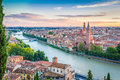 Sunset In Verona, Italy Royalty Free Stock Photo - 49273645
