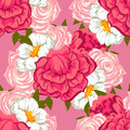 Abstract Elegance Seamless Pattern With Floral Elements Stock Photo - 49281980