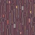 Seamless Pattern With Cutlery 1 Royalty Free Stock Image - 49290086