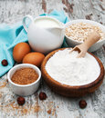 Fresh Ingredients For Oatmeal Cookies Royalty Free Stock Photo - 49291805