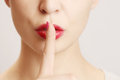Finger On Lips - Silent Gesture Royalty Free Stock Photos - 49296018