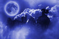 Dragon In Moonlight Royalty Free Stock Images - 49299029