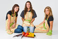 Three Young Female Chefs Royalty Free Stock Photos - 4931388