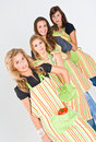 Four Female Cooks Royalty Free Stock Photography - 4931547