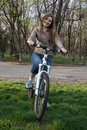 Girl On Bicycle Royalty Free Stock Photography - 4937607