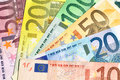 Fan Of Different Euro Banknotes Royalty Free Stock Images - 49305979