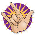 Pop Art Rock And Roll Hand Sign. Stock Photography - 49307822