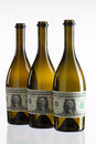 Empty Bottles Of Wine From The Label Of Dollar Bill Royalty Free Stock Image - 49309566