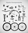 Cycle Components. Royalty Free Stock Images - 49312379