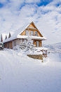 Mountain Cottage In Winter Royalty Free Stock Image - 49315426