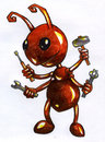 Cartoonish Ant Worker Sketch Royalty Free Stock Image - 49323936