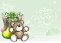 Green Valentines Day Background Stock Photography - 49327772