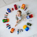 Boy With Toy Cars Stock Photography - 49334892