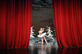 At The End Of The Play-The Last Scene Of Swan Lake-ballet Swan Lake Royalty Free Stock Photo - 49336395
