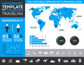 Infographic Template For Tourism, Traveling And Holiday Transport With Charts And Diagrams Stock Images - 49361644