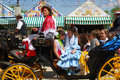 Spanish Family In Horse Drawn Carriage. Stock Photography - 49362882