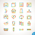 Vector Highlighter Line Icons Set 3 Stock Image - 49371621