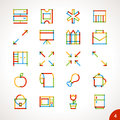 Vector Highlighter Line Icons Set 4 Royalty Free Stock Photography - 49372057