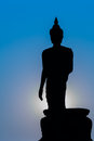 Silhouette Of Standing Big Buddha Statue During Twilight Time Stock Images - 49380494