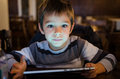 Boy With Tablet Royalty Free Stock Photos - 49387198