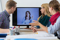 Business People Having Online Meeting Royalty Free Stock Photo - 49393355