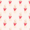 Seamless Pattern With Cute Rabbit Stock Photo - 49395790