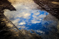 Puddle Reflection Royalty Free Stock Photos - 49398208