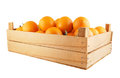 Orange Fruits In Wooden Box Isolated Royalty Free Stock Photography - 49398307