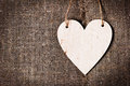 Valentines Day Card With Hearts On A Sacking Or Hessian Or Burlap Background, Royalty Free Stock Photos - 49398588