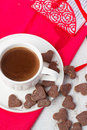 Hot Cocoa And Cookies Hearts. Selective Focus Stock Photos - 49407753