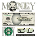 Miscellaneous 50 Dollar Bill Elements Stock Images - 49407814
