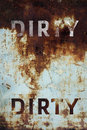 Dirty Text On Grunge Metal Background Stock Photography - 49422992