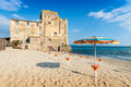 Torre Mozza Old Tower And Beach In Tuscany Stock Photo - 49424240