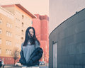 Young Beautiful Chinese Girl Posing In The City Streets Royalty Free Stock Images - 49426229