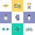 Fitness And Health Care Pictogram Icons Set Royalty Free Stock Photography - 49430097