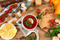 Red-beet Soup Royalty Free Stock Photography - 49433647