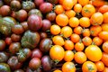 Heirloom Cherry Tomatoes For Sale In Farmer S Market In Summer Stock Image - 49438481