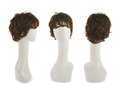 Hair Wig Over The Mannequin Head Stock Images - 49452374