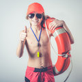 Young Lifeguard Royalty Free Stock Photography - 49454657