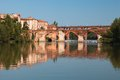 Bridge And Houses In Albi And Its Reflection Stock Image - 49463781