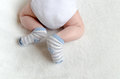 Newborn Baby Sleeping On White Royalty Free Stock Images - 49469979