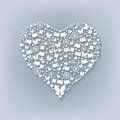 Big White Heart. Cut Paper Royalty Free Stock Images - 49474539