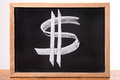 Dollar Sign On A Blackboard Stock Photos - 49484073