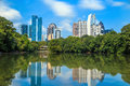 Skyline And Reflections Of Midtown Atlanta, Georgia Royalty Free Stock Images - 49489059